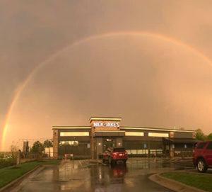 Nick and Jake's Shawnee Location Rainbow